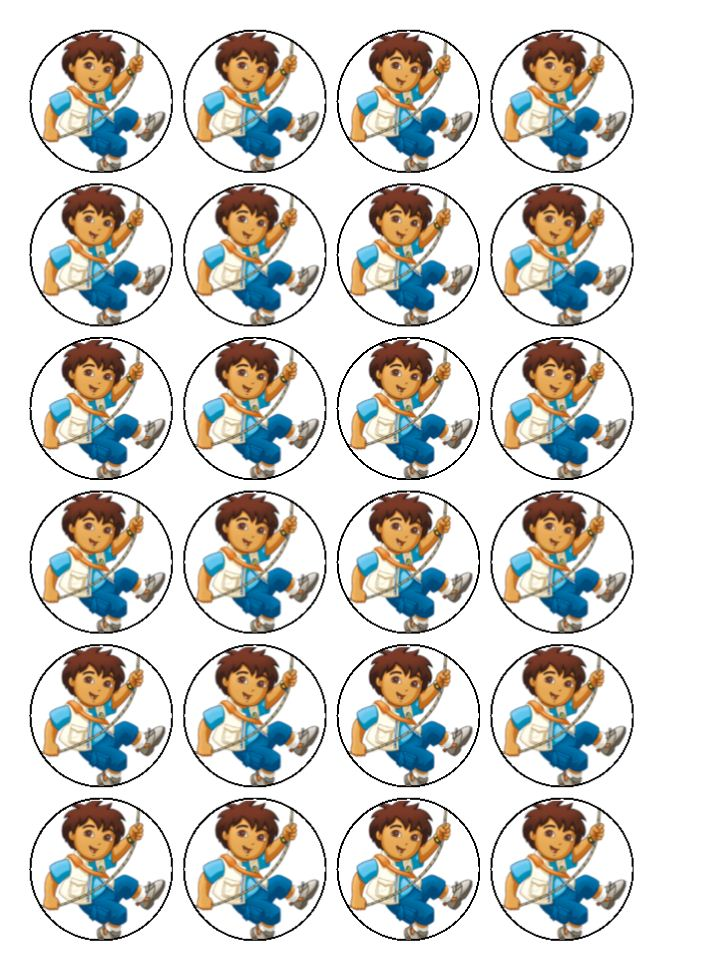 Diego Cupcake Toppers Www Pixshark Com Images